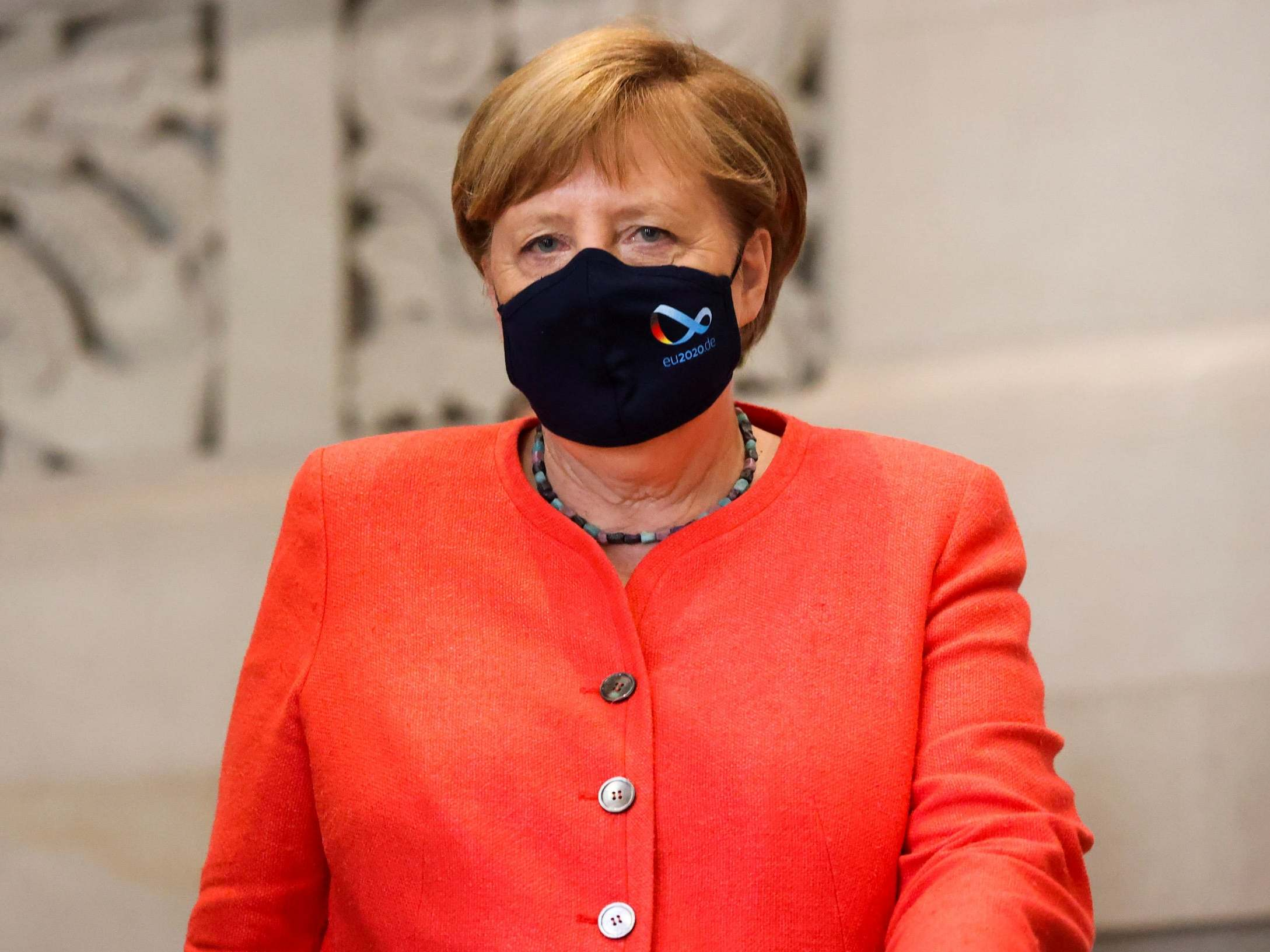 Coronavirus: Angela Merkel seen wearing face mask in public for first time following accusations of hypocrisy 9