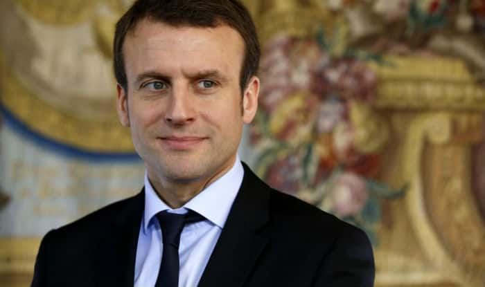 French President Emmanuel Macron Slapped by Man During Walkabout Session, Two Arrested | WATCH Video