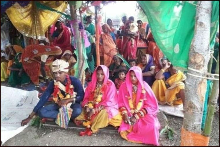 Madhya Pradesh Man Marries Two Women at Same Time, Family-Villagers Join Wedding Rituals