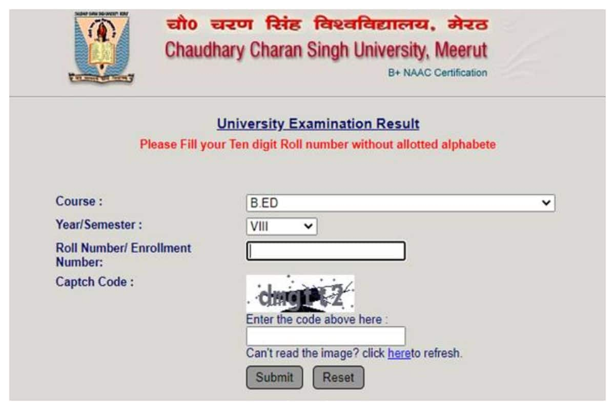 CCSU BEd Result 2020 Declared At ccsuniversity.ac.in, Check Details Here