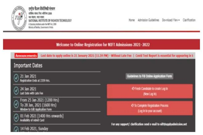NIFT 2021 Registration Commence at nift.ac.in, CHECK HOW TO APPLY HERE