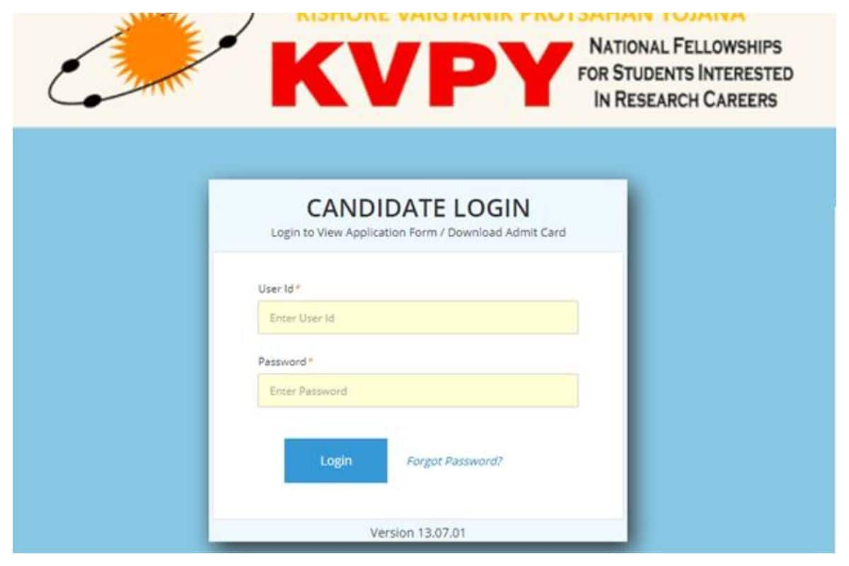 IISc KVPY Admit Card 2020 Released At kvpy.iisc.ernet.in, Download KVPY 2020 Admit Card Now