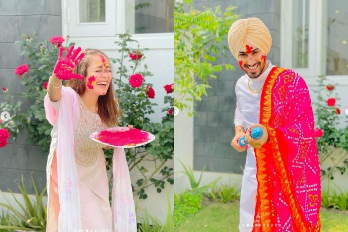 Neha Kakkar- Rohanpreet Singh First Holi Celebrations With Family- Photos And Videos Go Viral