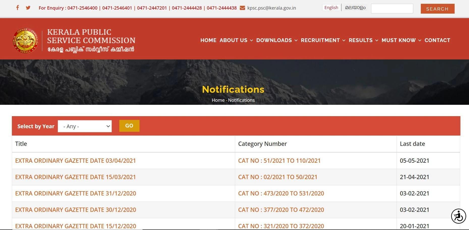 Kerala Public Service Commission Notifies 60 Vacancies, Check Details