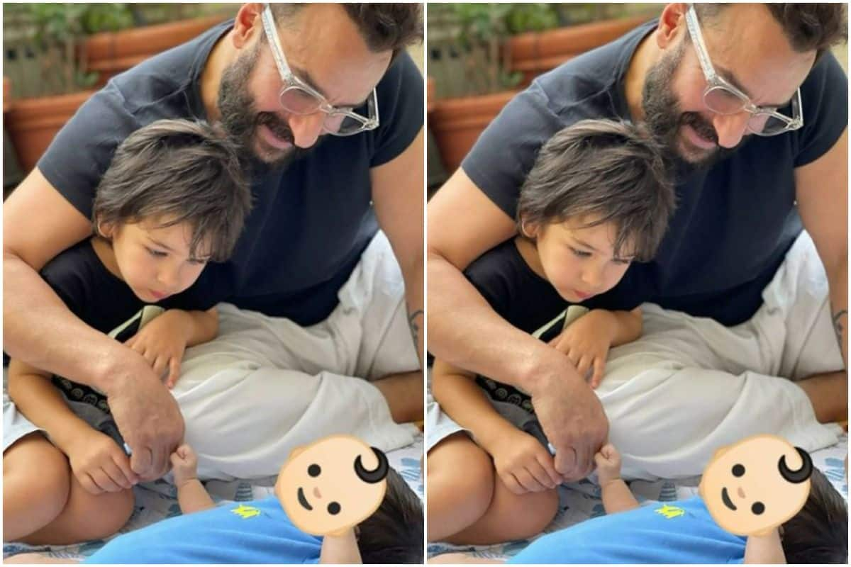 Kareena Kapoor Shares New Picture of Newborn Playing With Saif And Taimur, Hides His Face Again