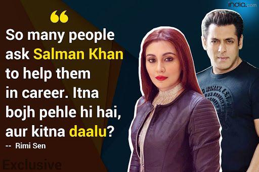 Rimi Sen on Asking Salman Khan to Help Revive Her Career: Aur Kitna Bojh Daalu Un Par