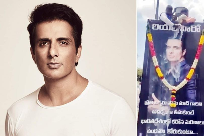 Sonu Sood Picture Showered With Milk As An Honour By Chittoor People, Actor Says Humbled