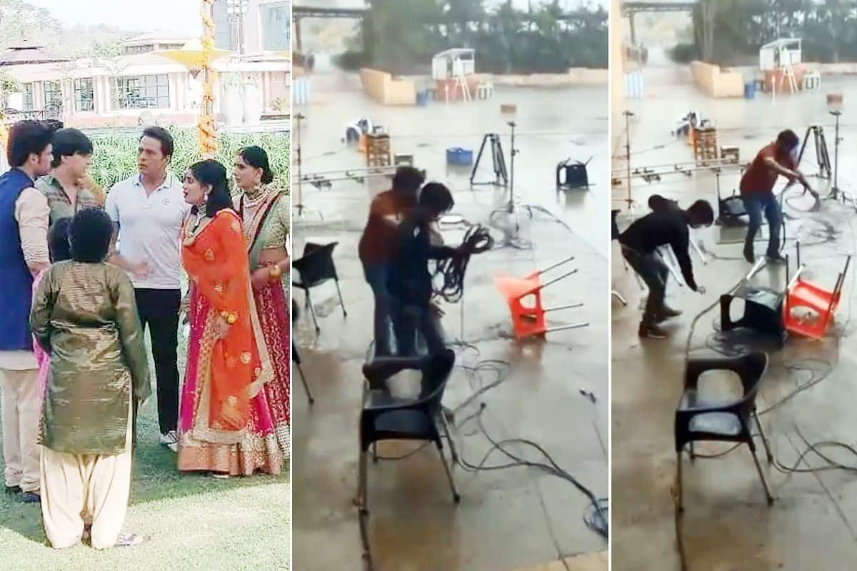 Cyclone Taukate Damages Set Of Yeh Rishta Kya Kehlata Hai in Gujarat