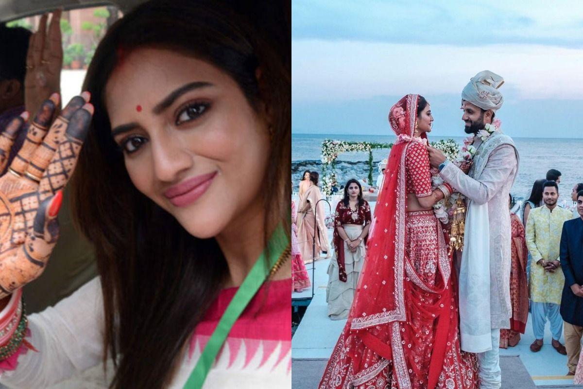 Nusrat Jahan Deletes Photos With Husband Nikhil Jain After She Alleges 'Invalid Marriage'