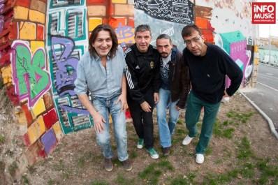 Trupa Partizan în sesiunea foto pentru InfoMusic.ro