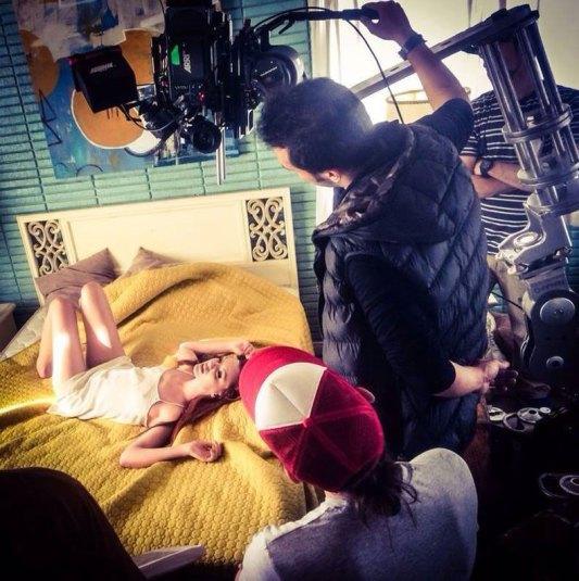 Alexandra la filmările noului videoclip - 2014