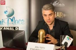 Zoli Toth în cadrul conferinței de presă On Air Music Awards 2014 pe 8 aprilie la Intercontinental