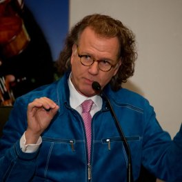 Conferinta de presa Andre Rieu despre concertul de la București din 2015