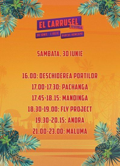 Programul El Carrusel - ziua de sâmbătă