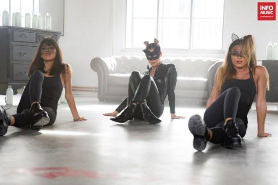 """Alina Eremia la filmările videoclipului """"69"""""""