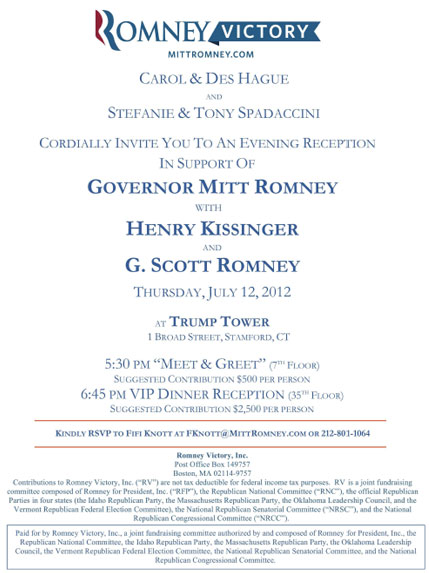 Romney-Kissinger Event