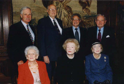 Billionaires for Population Control: Bill Gates, Sr. (2nd from left), co-chair of the Bill and Melinda Gates Foundation and father of the Microsoft founder, is pictured next to Ted Turner, George Soros and David Rockefeller who've all heavily donated to depopulation efforts.
