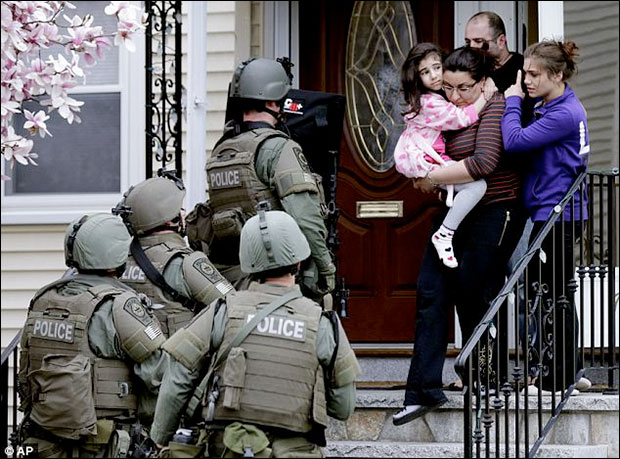 Did the Military and Police Go Too Far in Locking Down Boston and Conducting Involuntary Door to Door Searches? bostonmil5