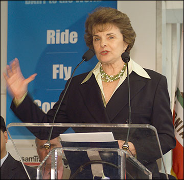 Senator Dianne Feinstein. Photo: Bay Area Rapid Transit