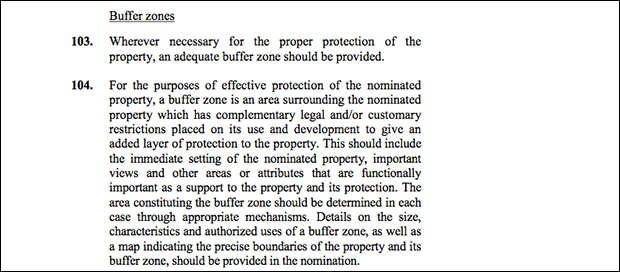 UNESCO's definition of a buffer zone.