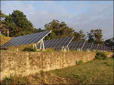 Solar cells on Spain's Cíes Islands / via Wikimedia Commons.