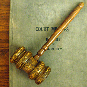 Gavels have been used by courts since perhaps the middle ages. Credit: Jonathunder via Wikimedia