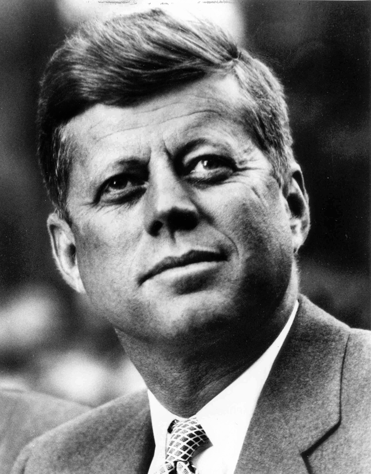 """President John Fitzgerald Kennedy, 1961-1963. Portrait distributed by the White House. Please credit """"John Fitzgerald Kennedy Library, Boston"""" for the image."""