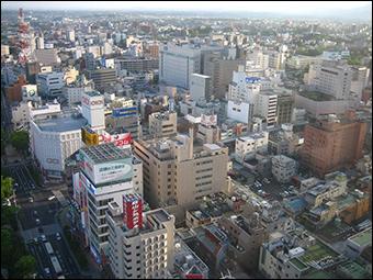 Kōriyama, shown here, has an estimated population of around 336,000.
