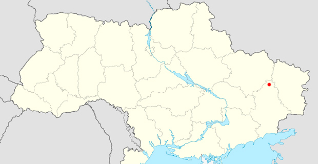 The approximate location of the shootout within Ukraine. Credit: NordNordWest / Wiki