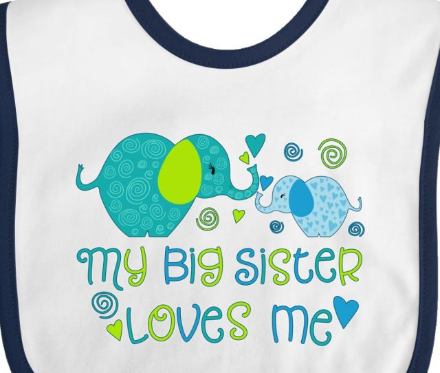Inktastic My Big Sister Loves Me Cute Elephants