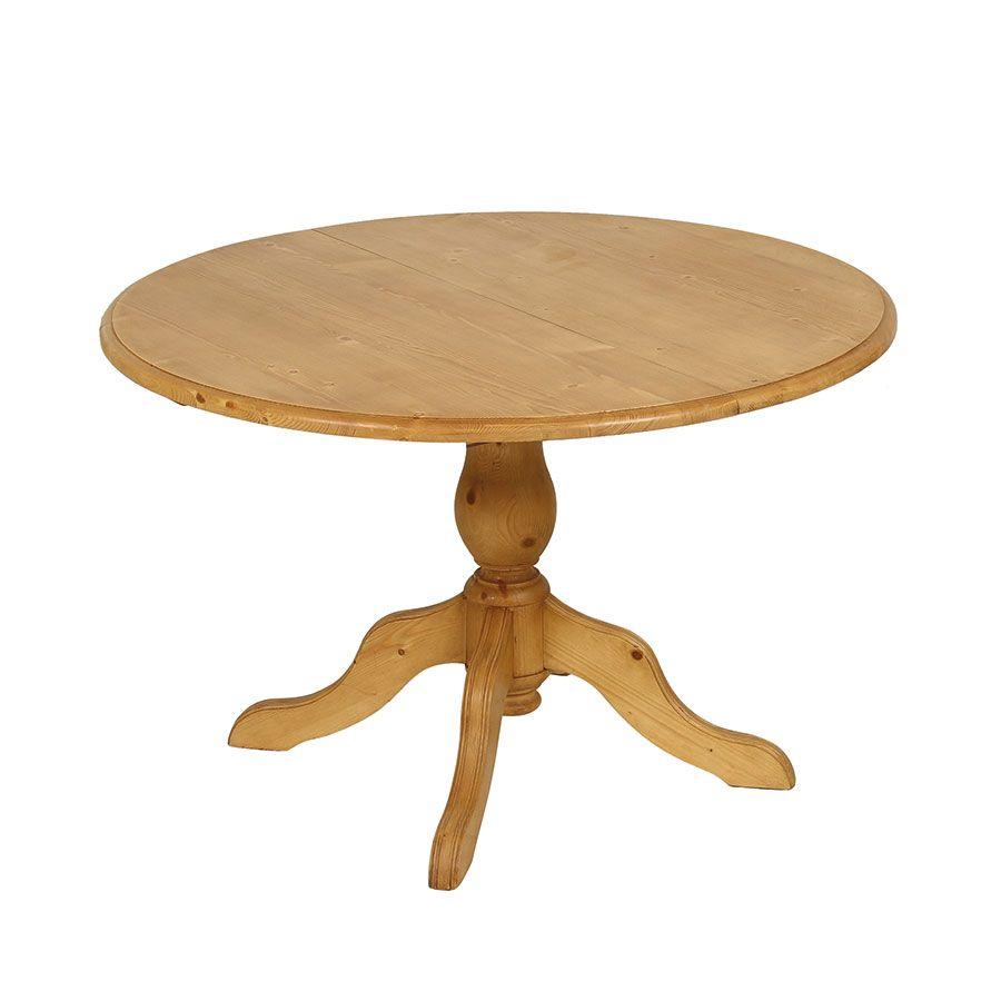 table ronde extensible en epicea naturel cire 8 personnes natural