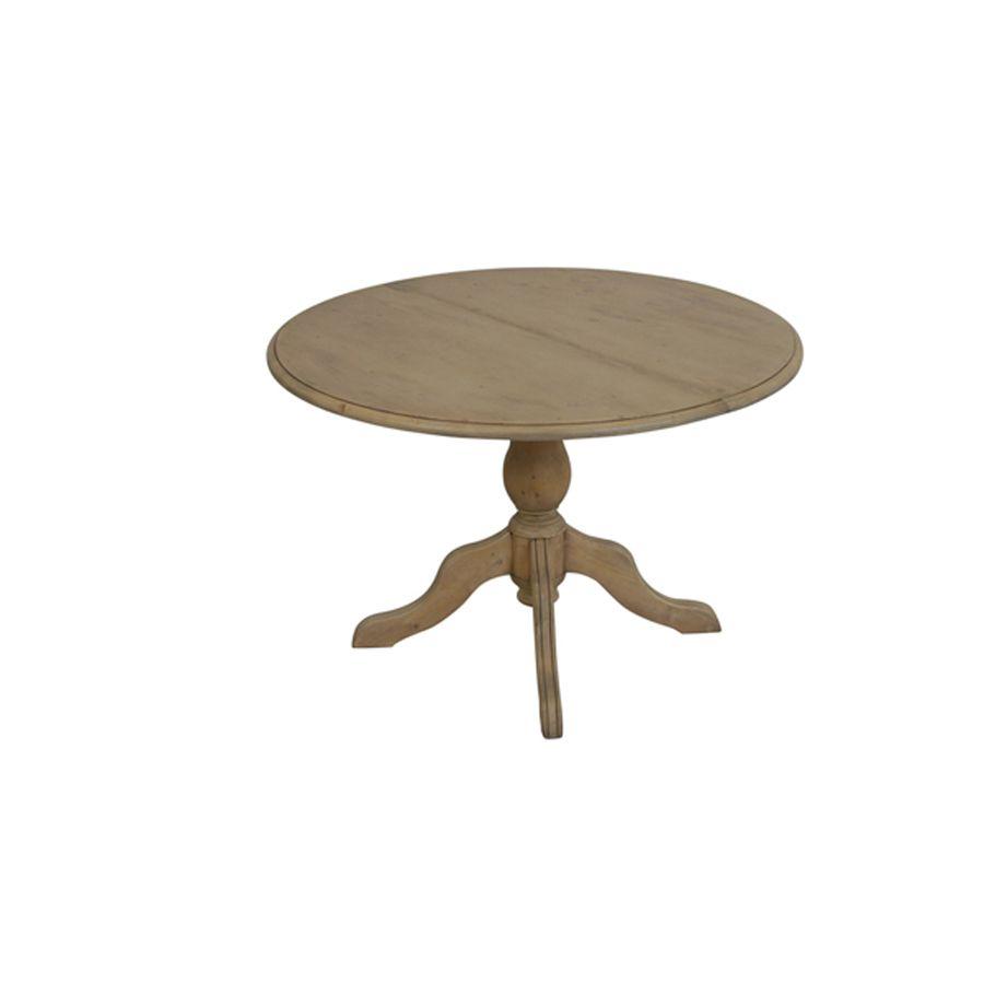 table ronde extensible en epicea 8 personnes natural