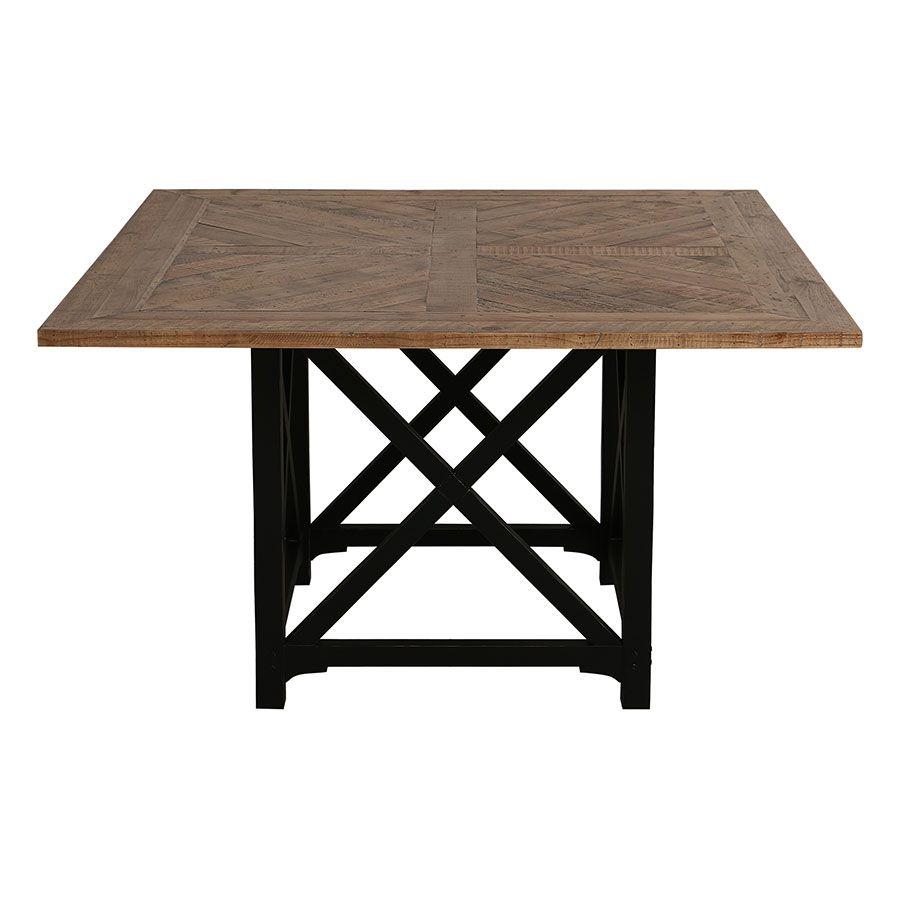 table carree noire en epicea massif 6 a 8 personnes venitiennes