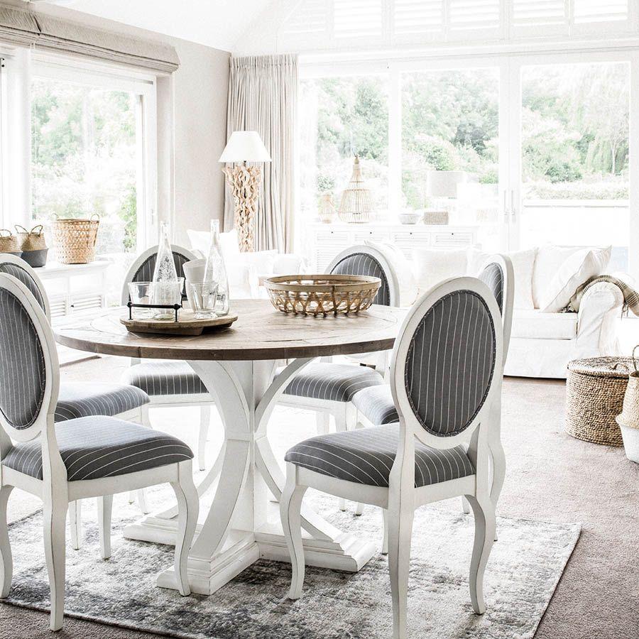 table ronde blanche en epicea 4 a 6 personnes venitiennes