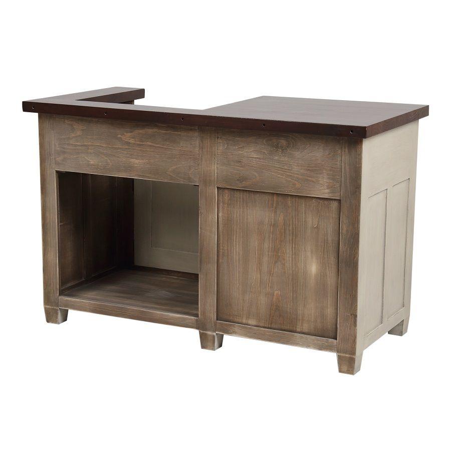 meuble de cuisine pour evier en pin grege vieilli brocante
