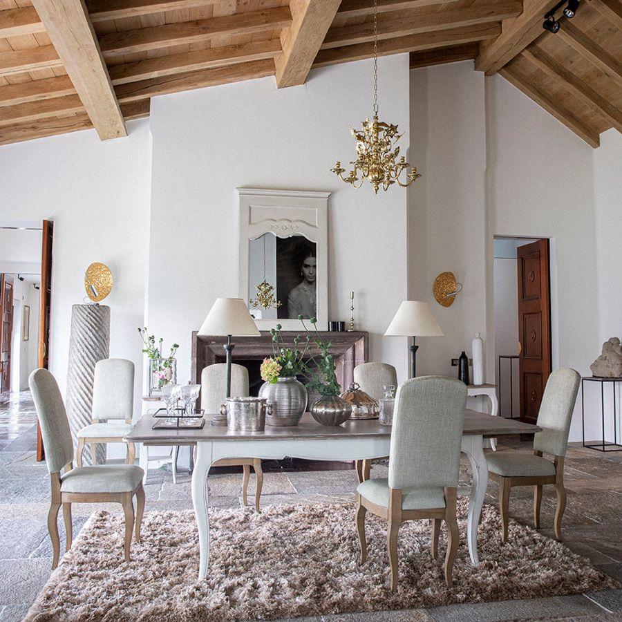 table a manger extensible en pin blanc vieilli 12 a 14 personnes chateau