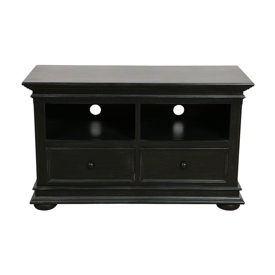 meuble tv baroque noir 2 tiroirs harmonie