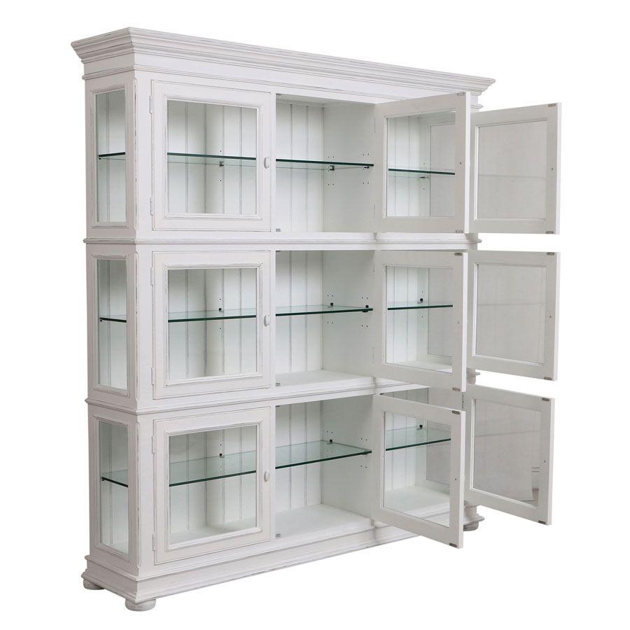 caisson blanc portes vitrees harmonie