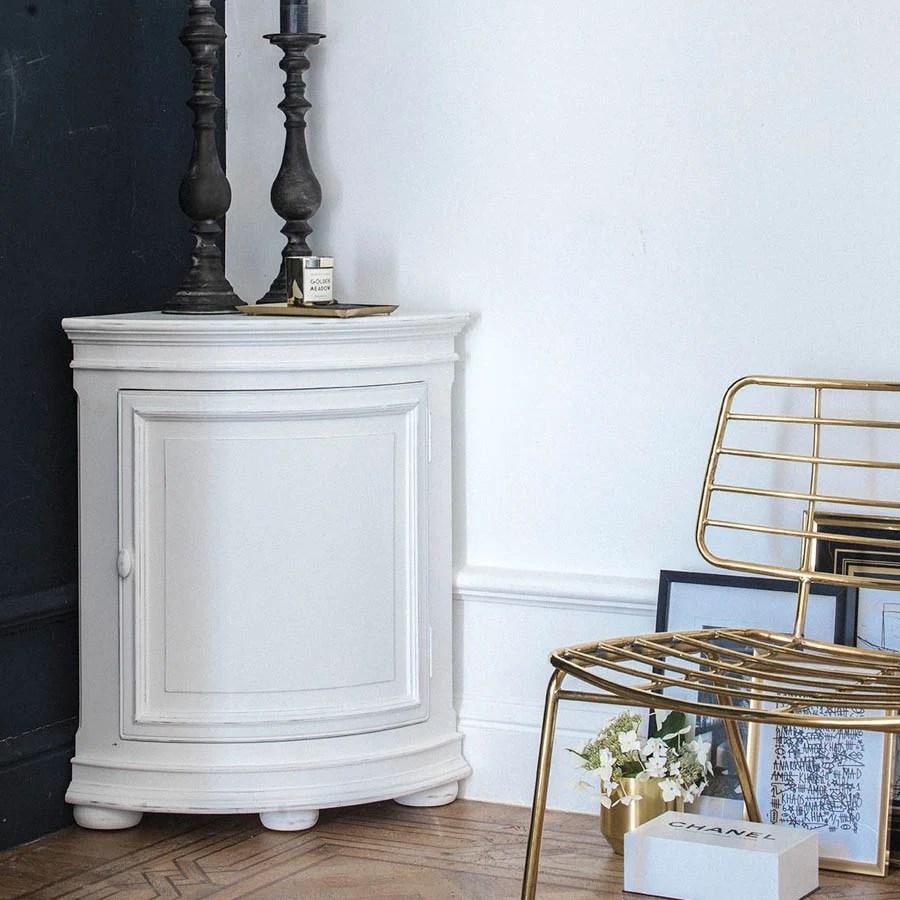 buffet d angle bas en bois blanc harmonie