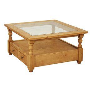 table basse carree en epicea avec rangement natural