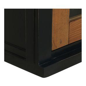 meuble de cuisine haut d angle 2 portes vitrees en bois recycle bleu navy rivages