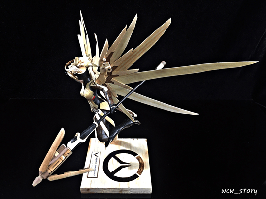 Mercy Statue Made Of Chopsticks Inven Global