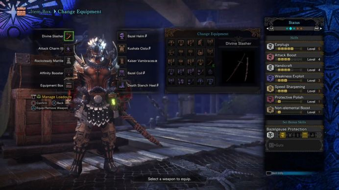 MHW Long Sword Non Elemental Longsword Setting With