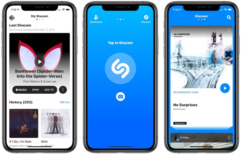 SoundHound Shazam song recognition