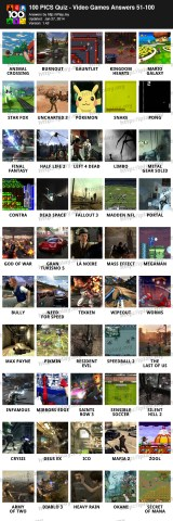 100 PICS Quiz     Video Games Pack Answers   iPlay my