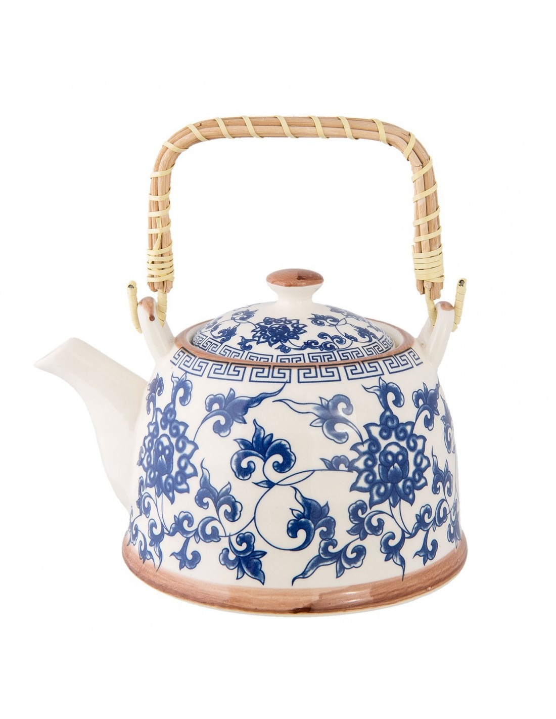 theiere porcelaine bleu