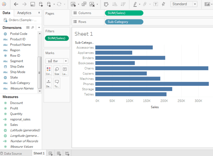 Tableau Filter Operations