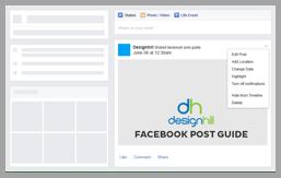 Facebook page design screenshot 3