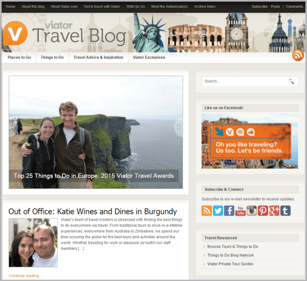 Viator Travel Blog - sites that will pay you