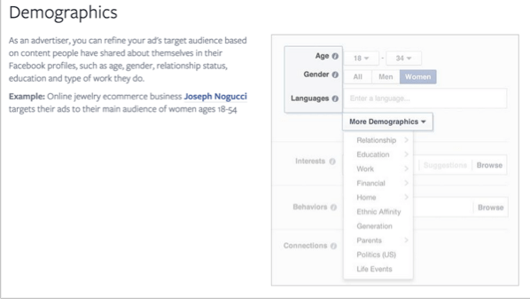 Demographics for how to promote your quizzes on Facebook